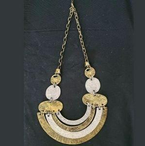 Vintage Goldtone Geometric Design Necklace